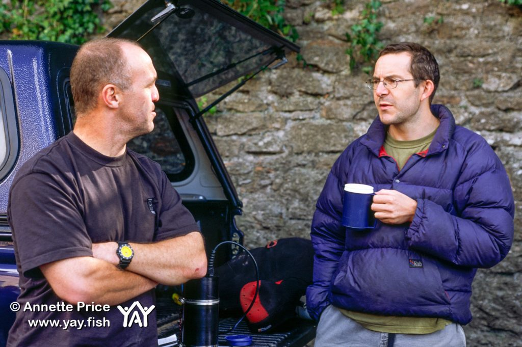 Photographer and film-maker Gavin Newman (left) with Cave Diver and explorer John Volanthen