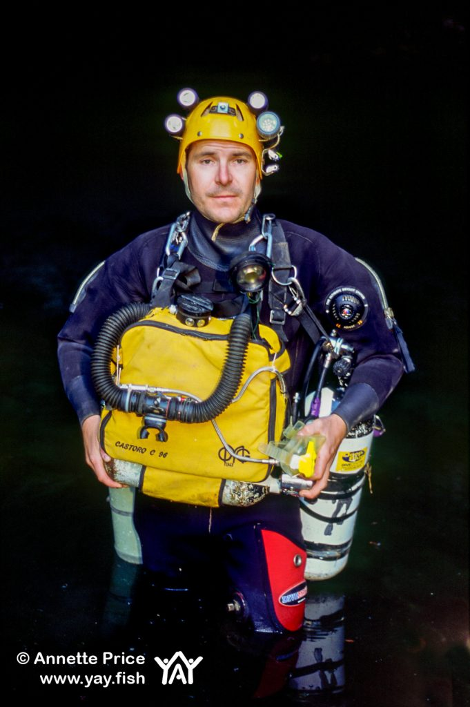 John Volanthen, cave diver and explorer.