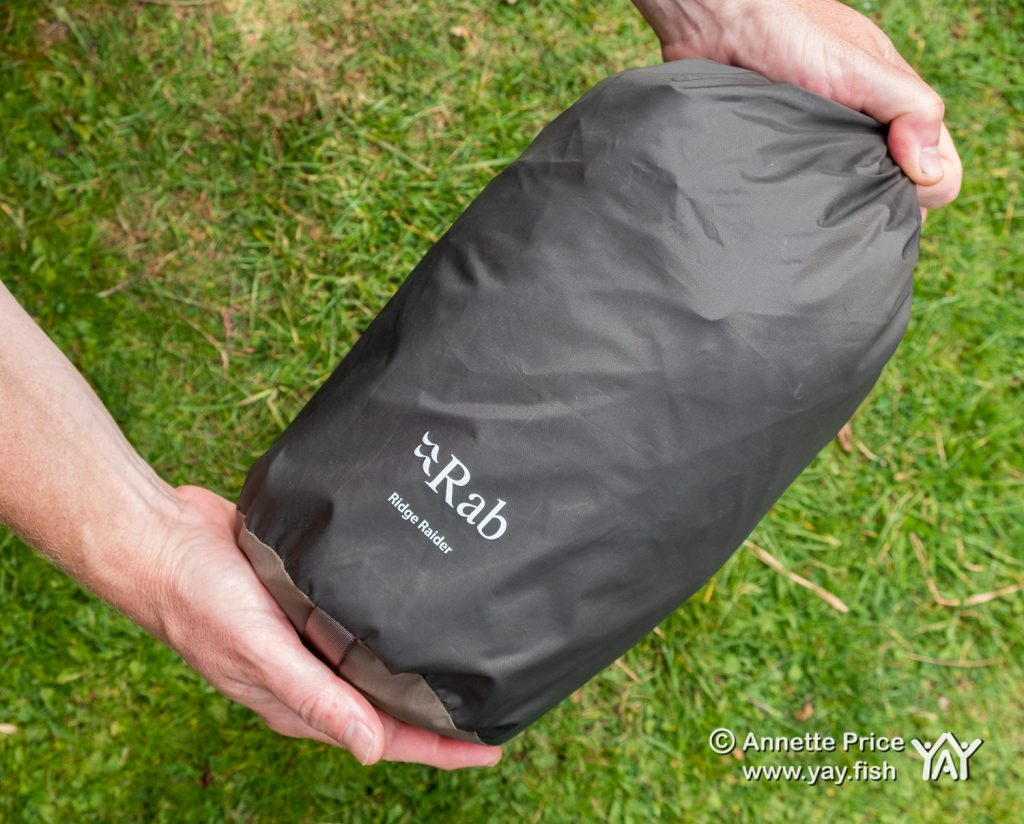 The Bivi packed away. There is also space to store an inflatable pillow inside the bag.